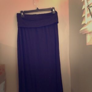 a.n.a. black soft maxi skirt